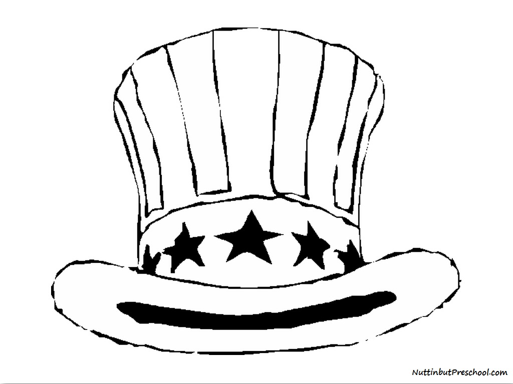 free top hat coloring page coloring page