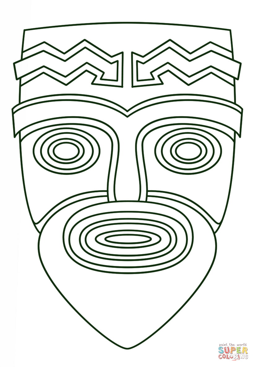 printable tiki mask coloring pages high quality coloring pages