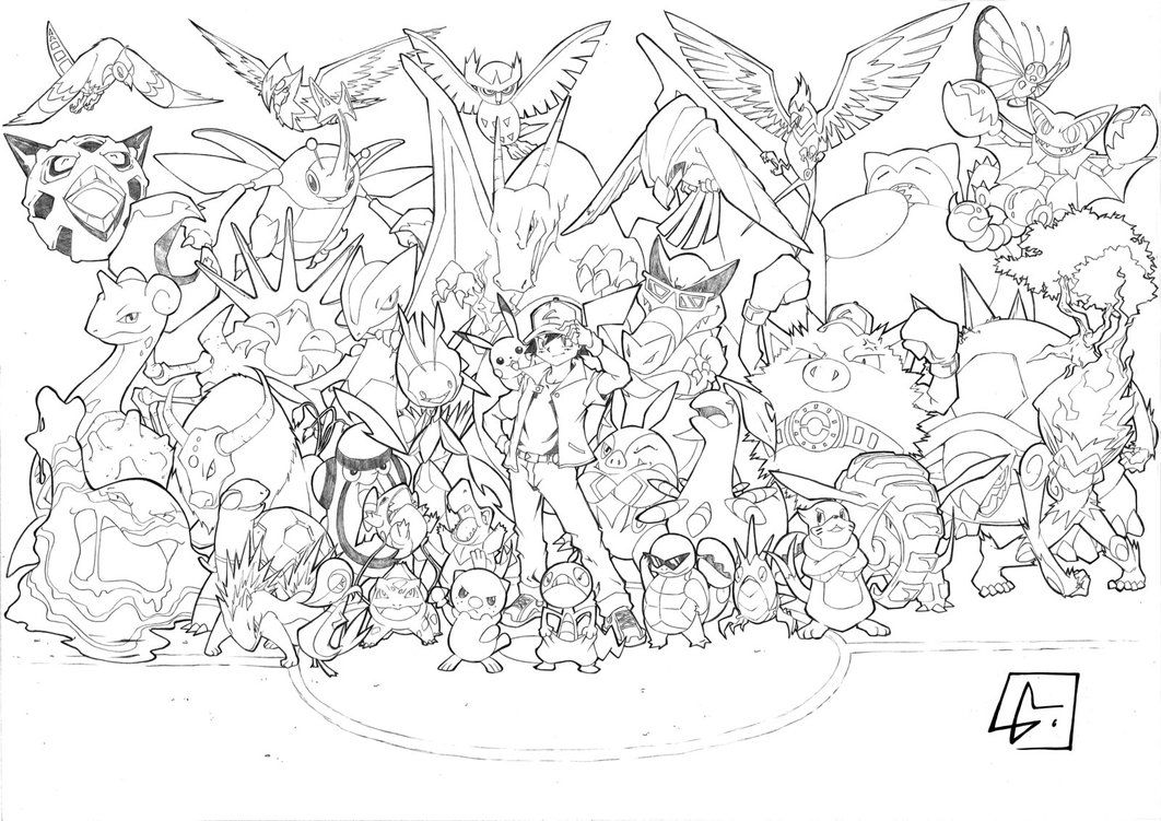 Pokemon Coloring Pages Eevee Evolutions Together Eevee Evolutions