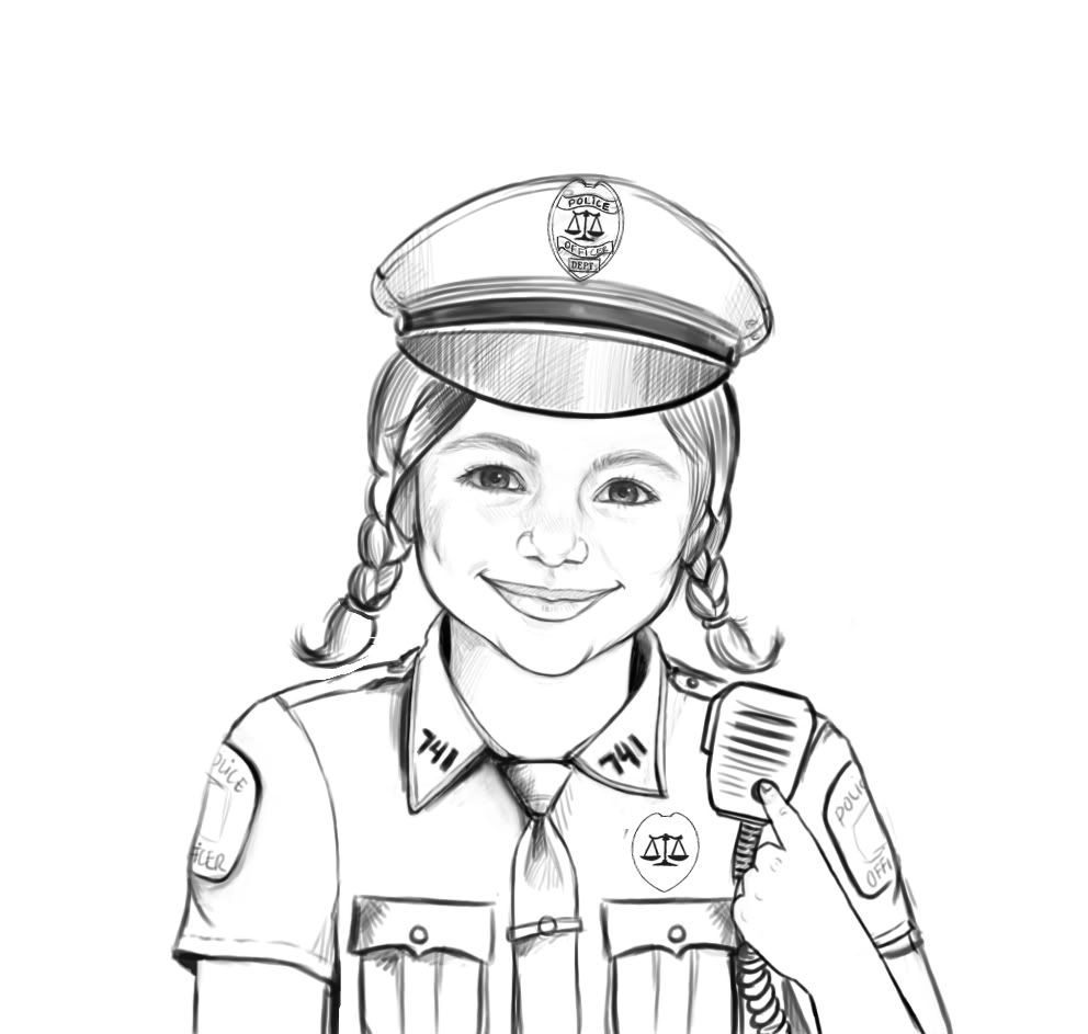 police hat coloring page coloring pages for kids and for adults