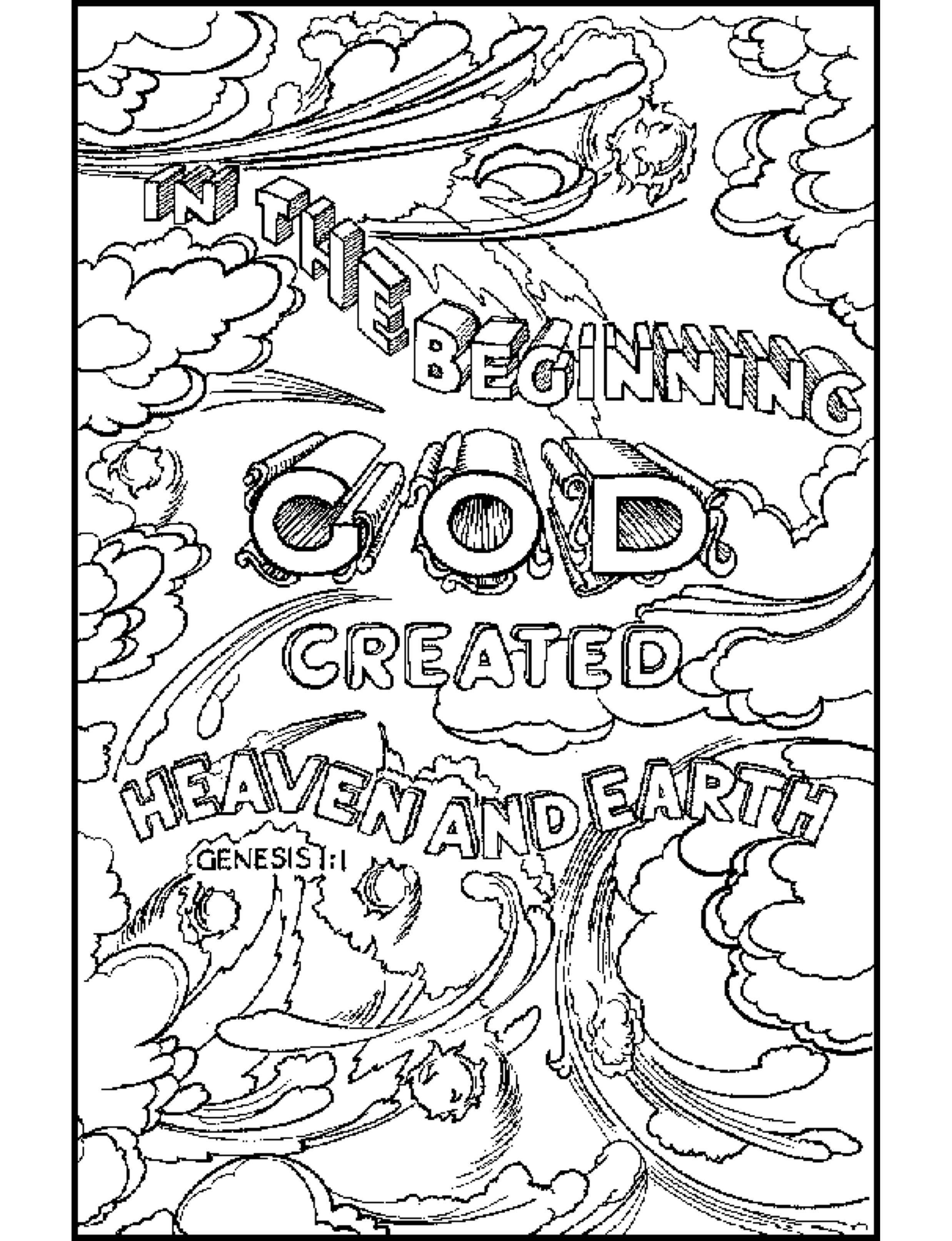 God Created The Earth Coloring Pages
