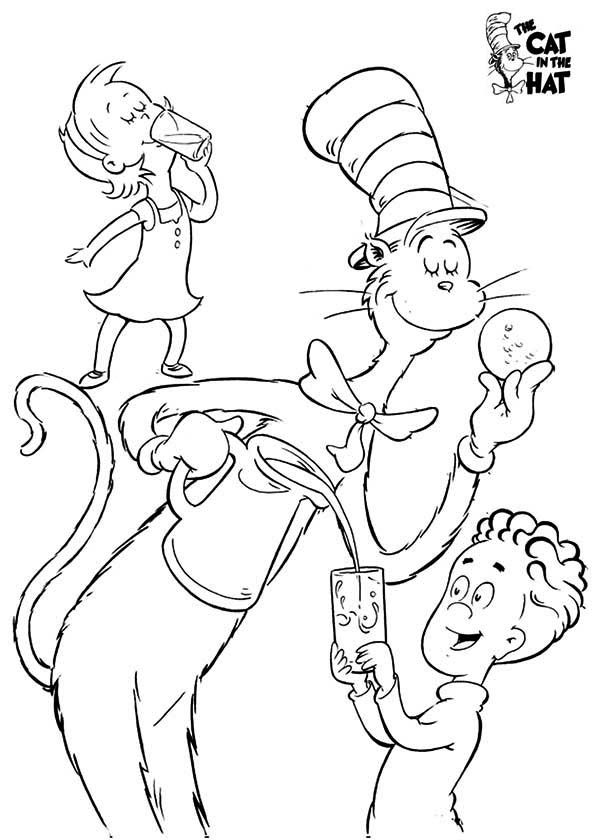 coloring pages cat in the hat az coloring pages
