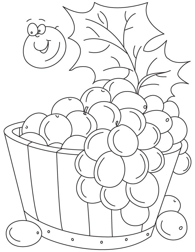 picture of grapes az coloring pages