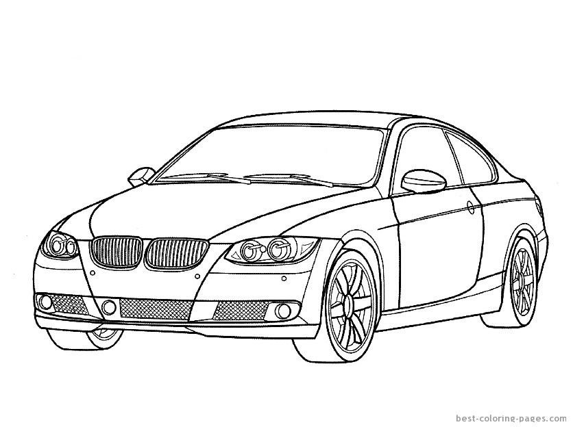 cars coloring pages for kids printable sports