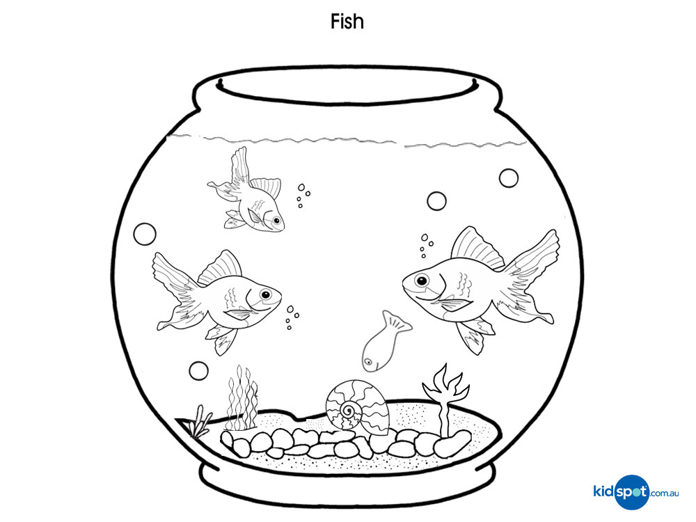 fish bowl coloring page free coloring pages for kidsfree