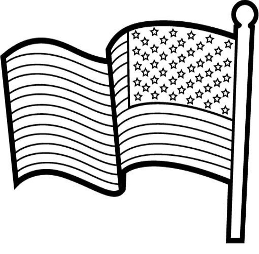 printable american flag coloring page az coloring pages