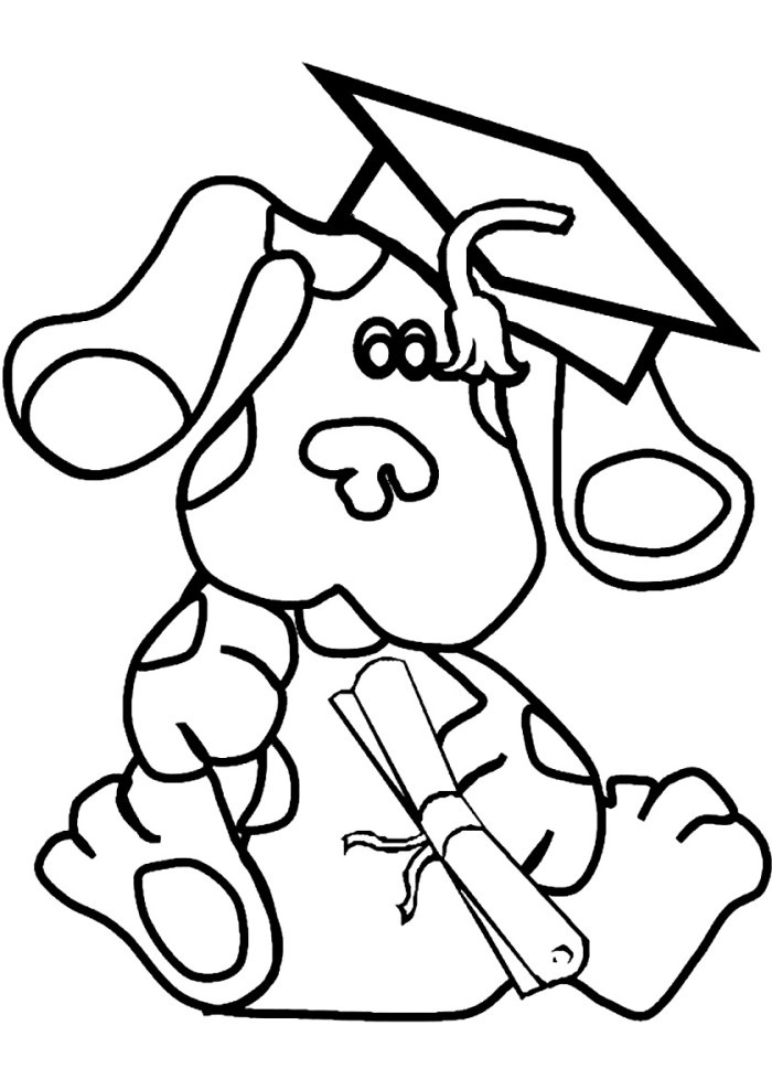 blues on a pillow blues clues coloring page tv show coloring