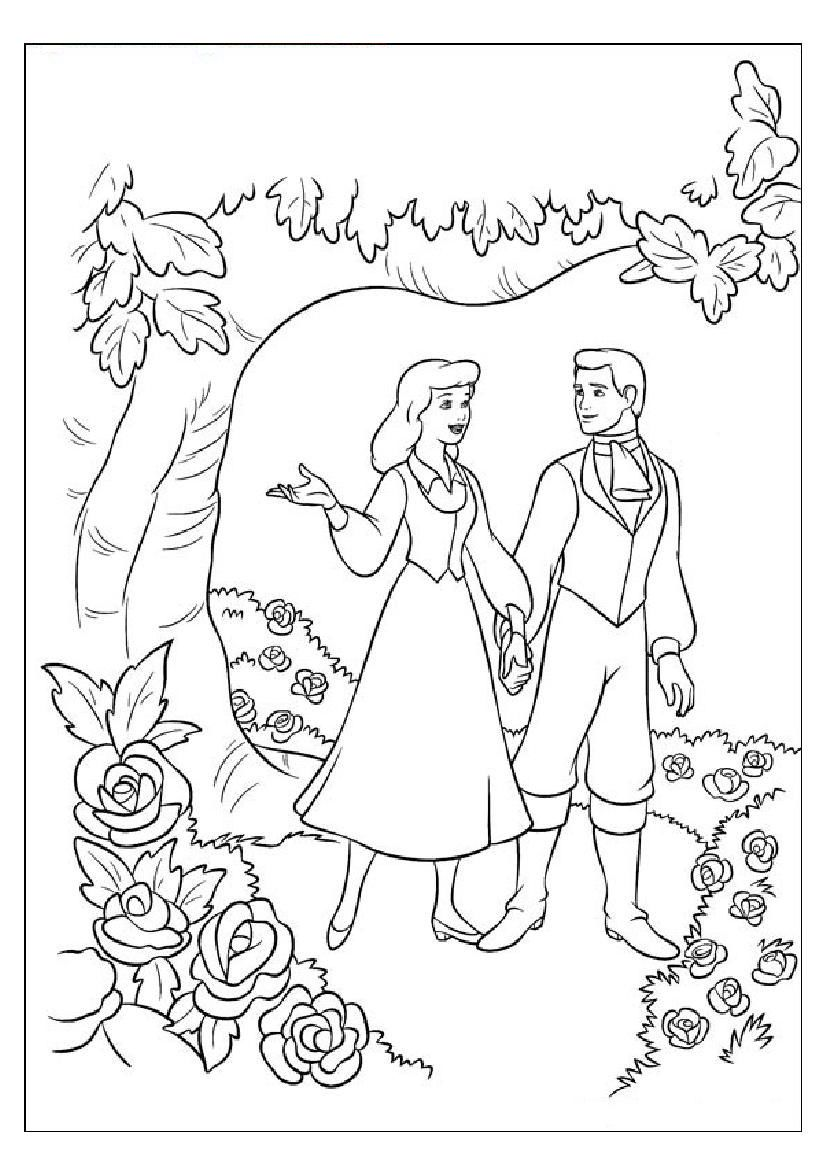 Disney Princess Coloring Pages Snow White And Prince