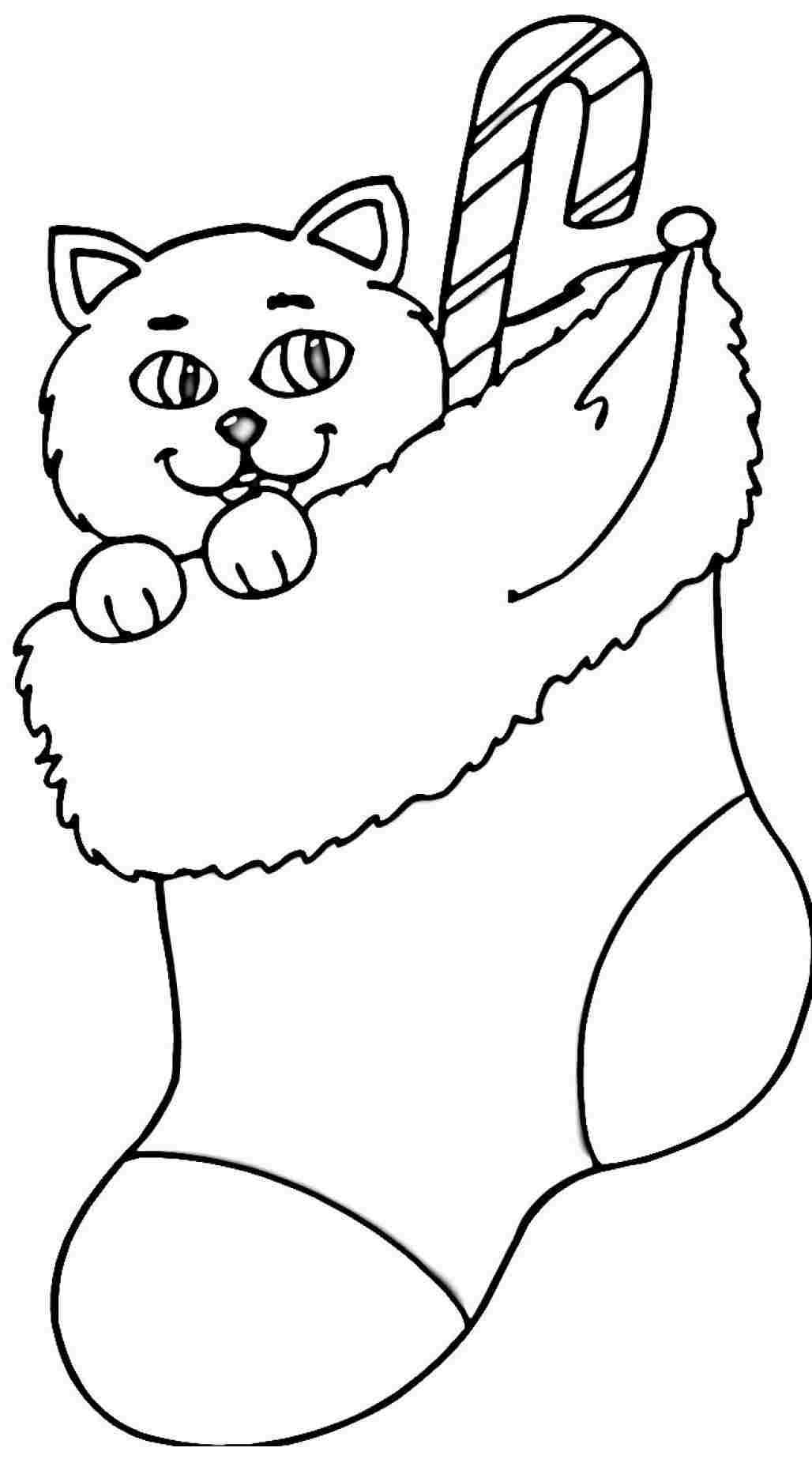Printable Christmas Stocking Coloring Pages