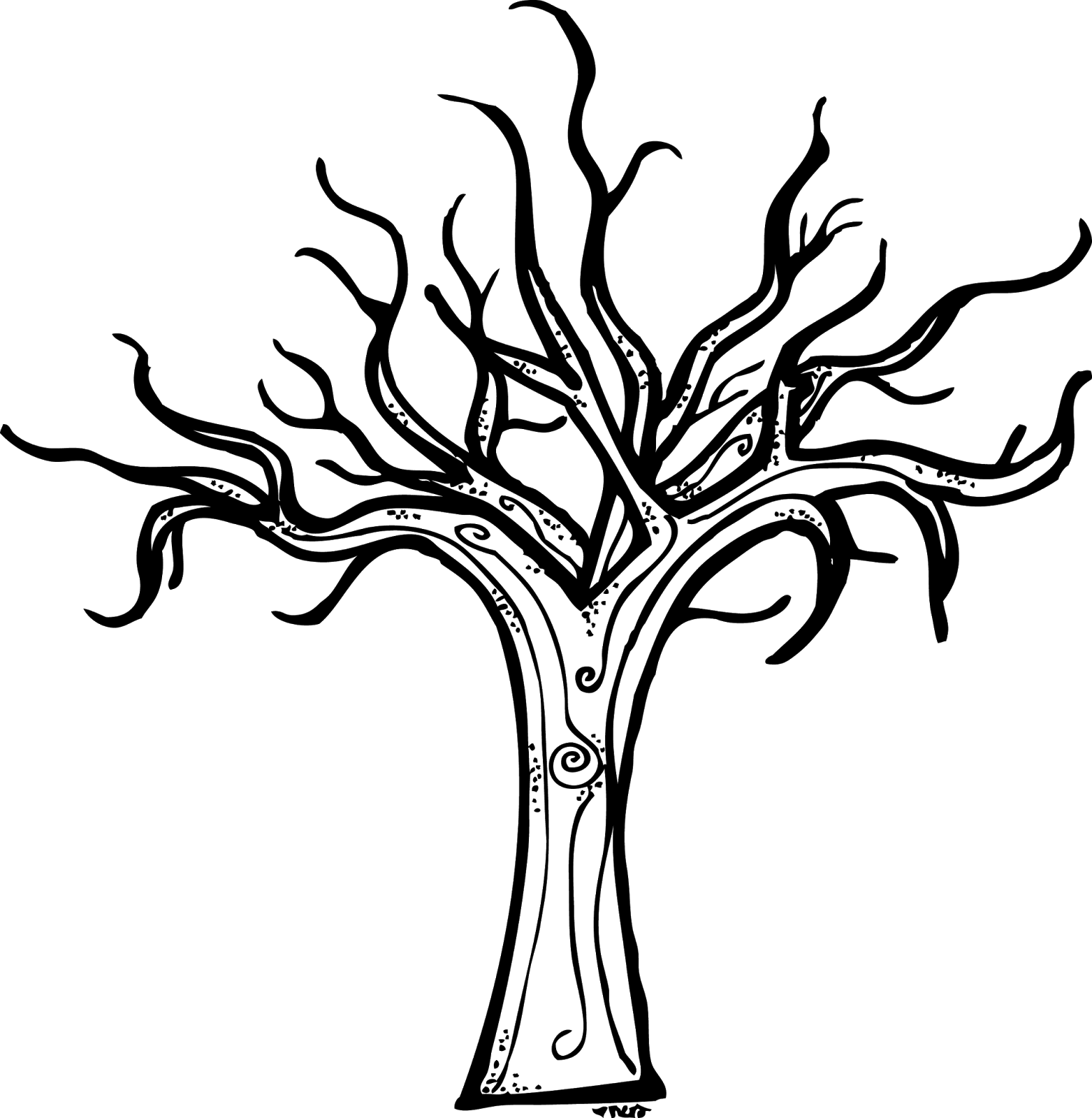 bare tree coloring page az coloring pages