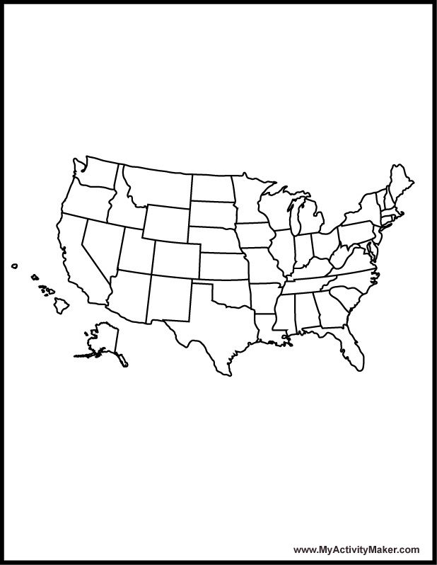 united states map coloring page az coloring pages