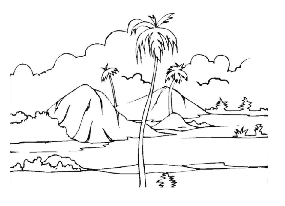 beach scene coloring pages az coloring pages