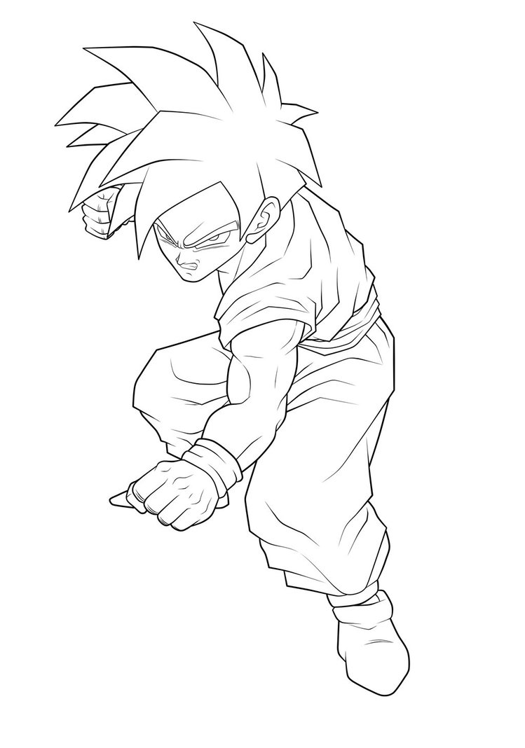 dragon ball z coloring pages gohan coloring pages now