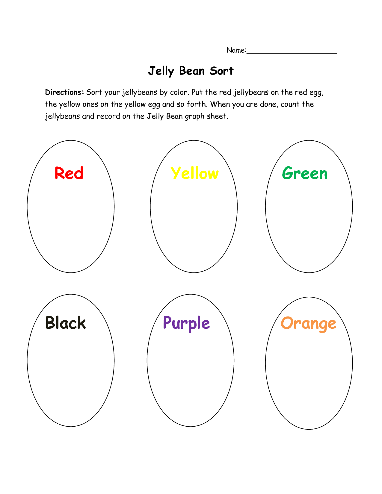 Jelly Bean Coloring Page Printable