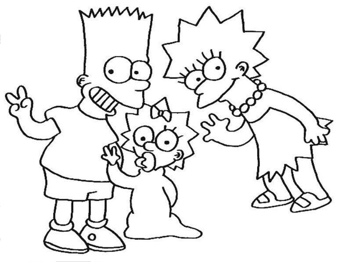 simpson coloring pages az coloring pages