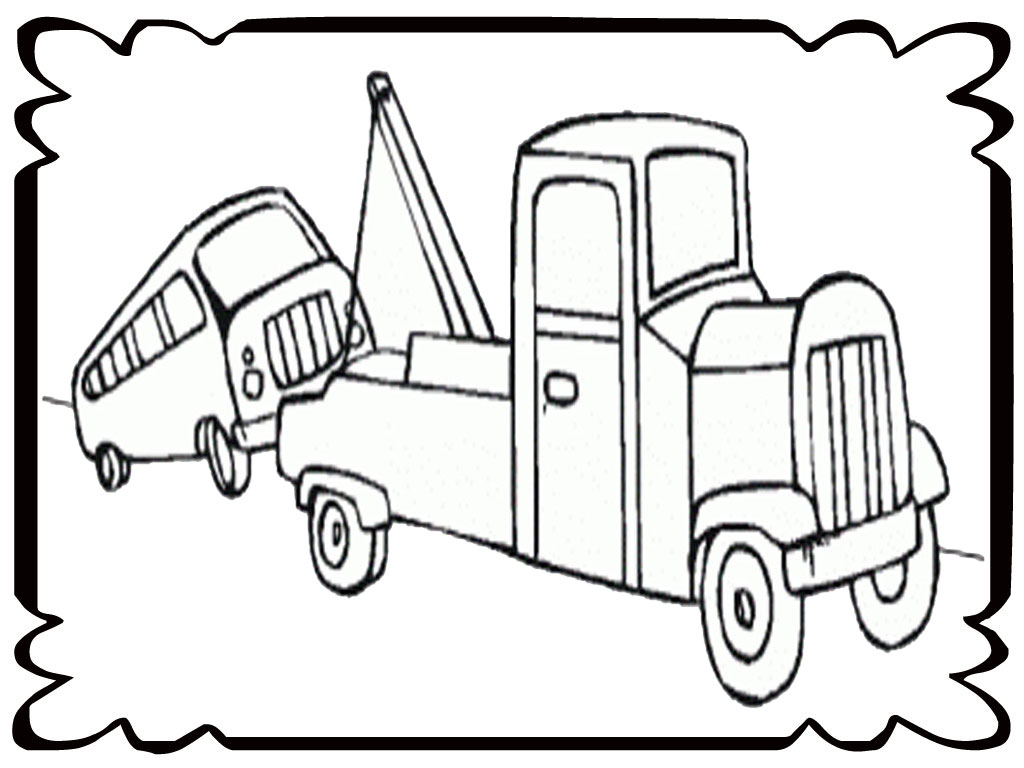 tow trucks for kids az coloring pages