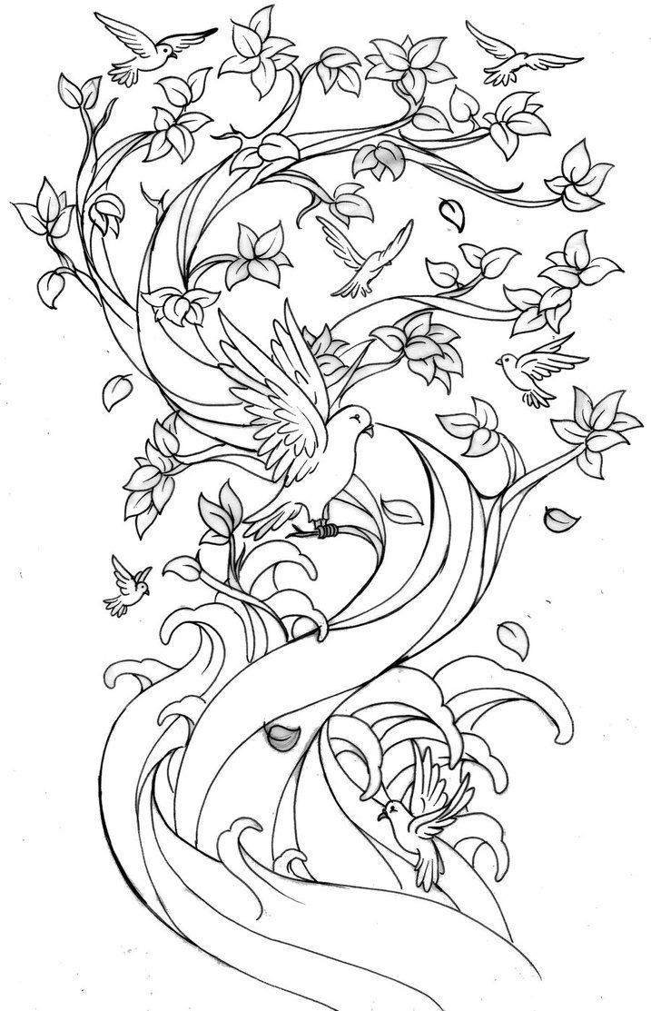 cherry blossom coloring page az coloring pages