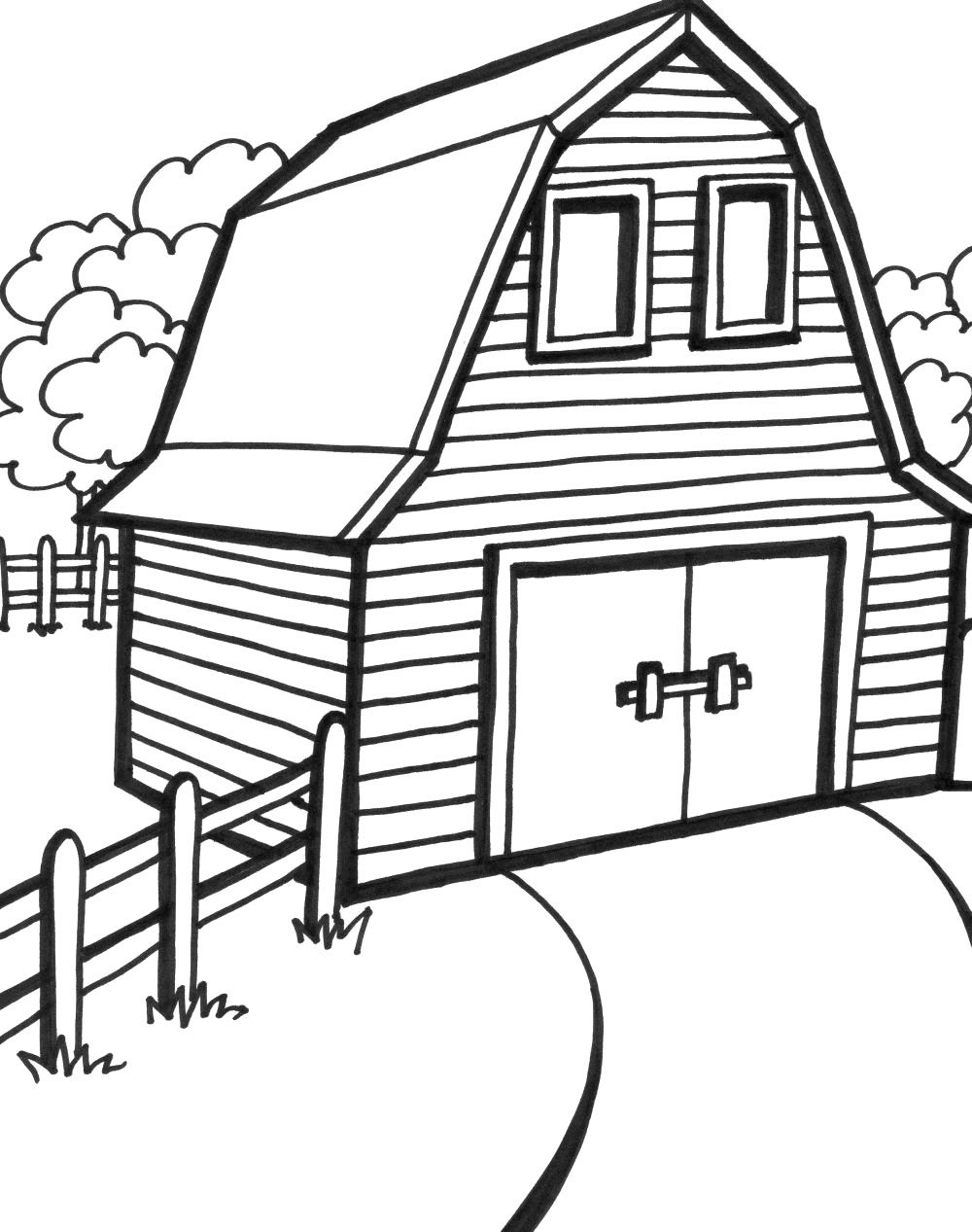barn printable coloring pages az coloring pages