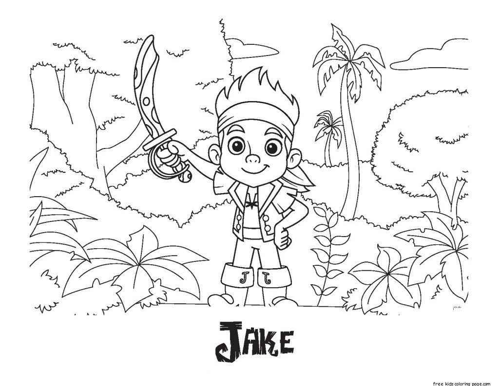 Coloring Pages For Captain Jake And The Neverland Pirates
