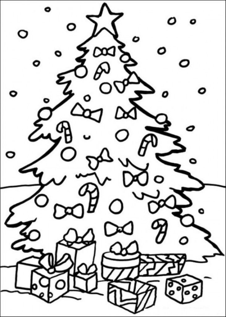 christmas tree with presents coloring page az coloring pages