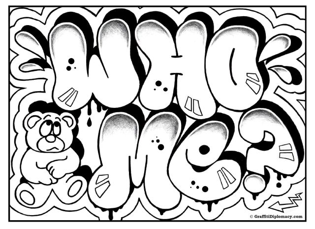 Love graffiti coloring pages