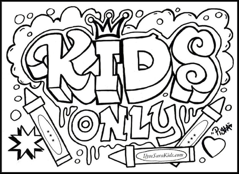 graffiti coloring book pages coloring pages for kids and for adults