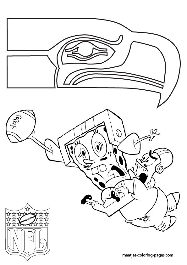 seahawks coloring pages az coloring pages