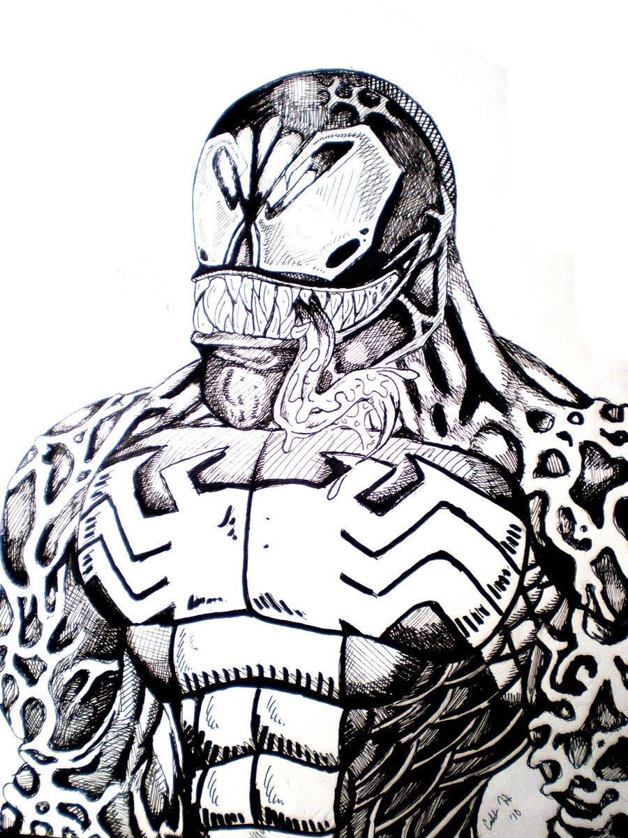 Free Printable Venom Coloring Pages For Kids | Spiderman coloring ... | 1200x900