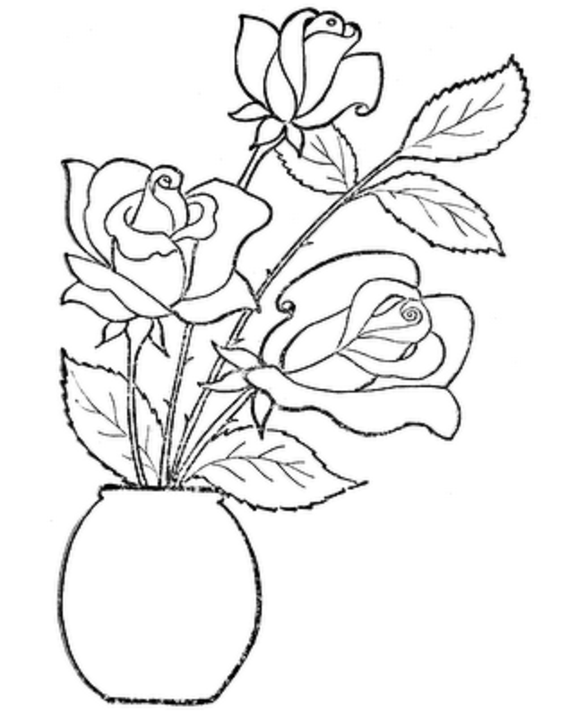 coloring pages of roses az coloring pages