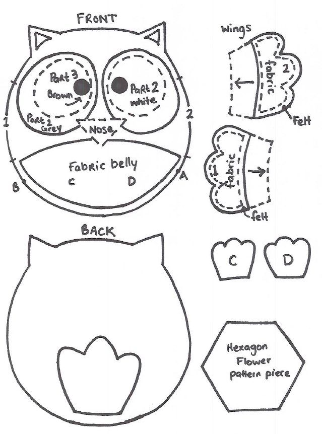 Owl Template Cut Out uploaded by user 1000 ideas about owl – Owl Template