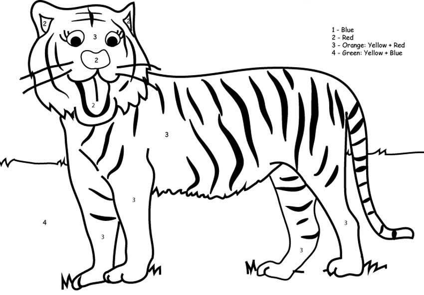 tiger pictures to color for kids az coloring pages