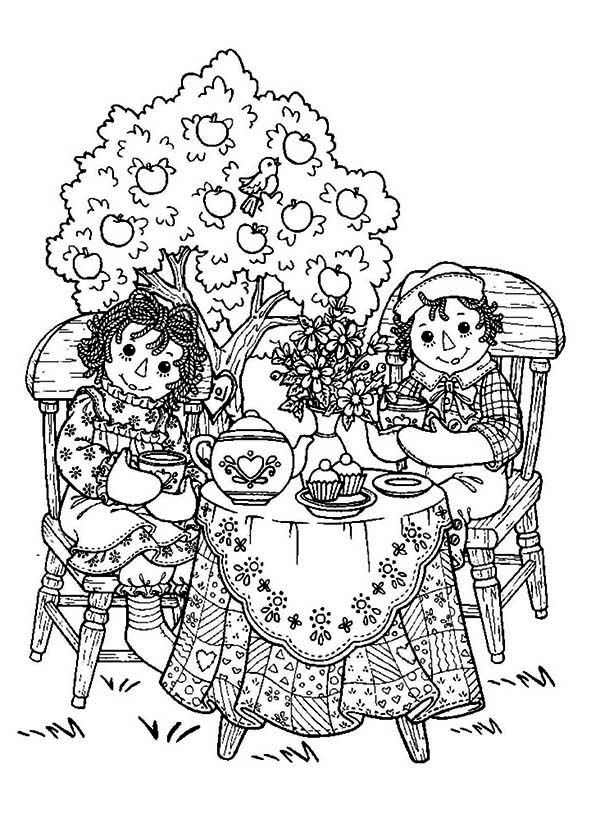 printable tea party coloring pages az coloring pages