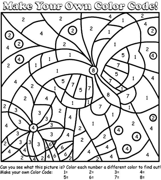 butterfly color by number az coloring pages