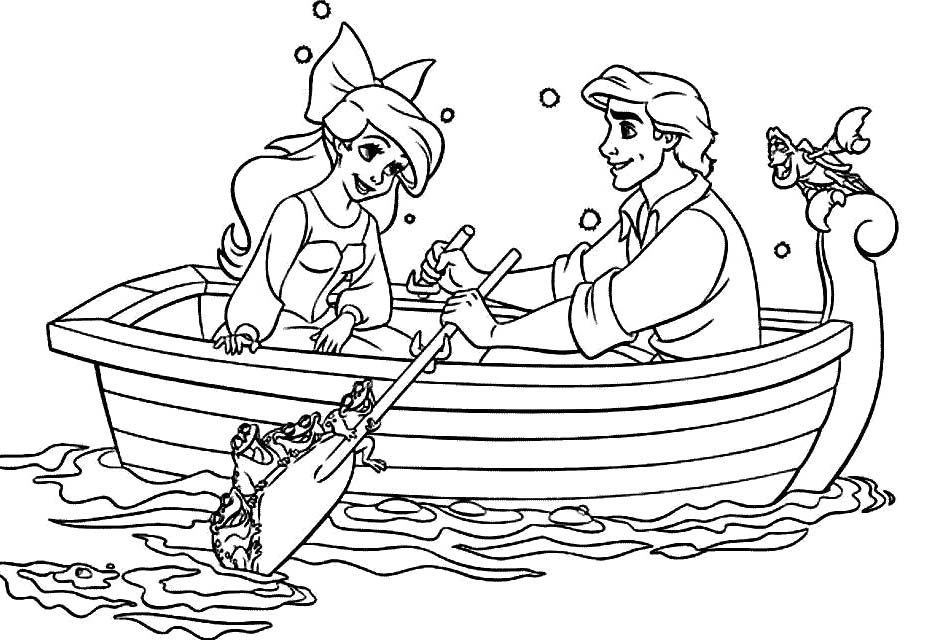 ariel and eric coloring pages for free ariel and eric coloring pages