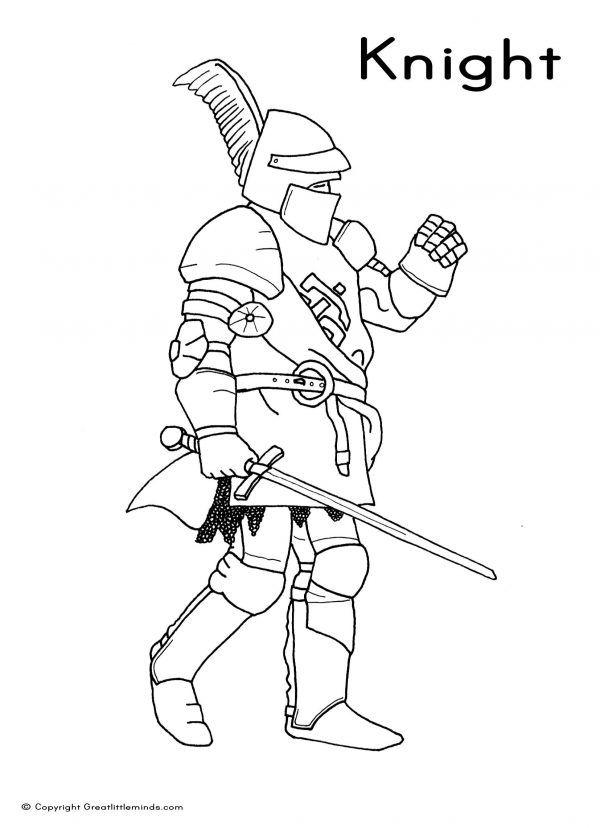 Knights Coloring Pages To Print The Knight On Pinterest Mike The