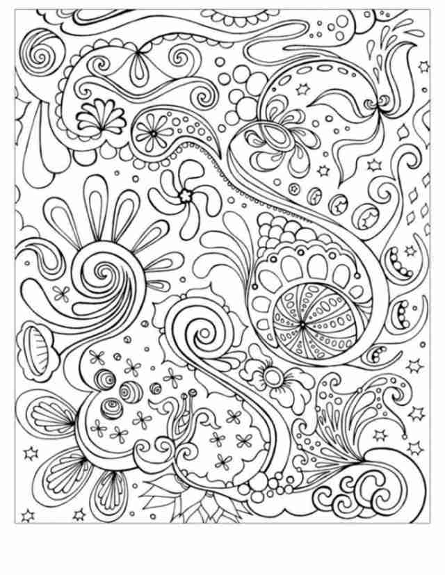 Detailed abstract coloring pages for teenagers