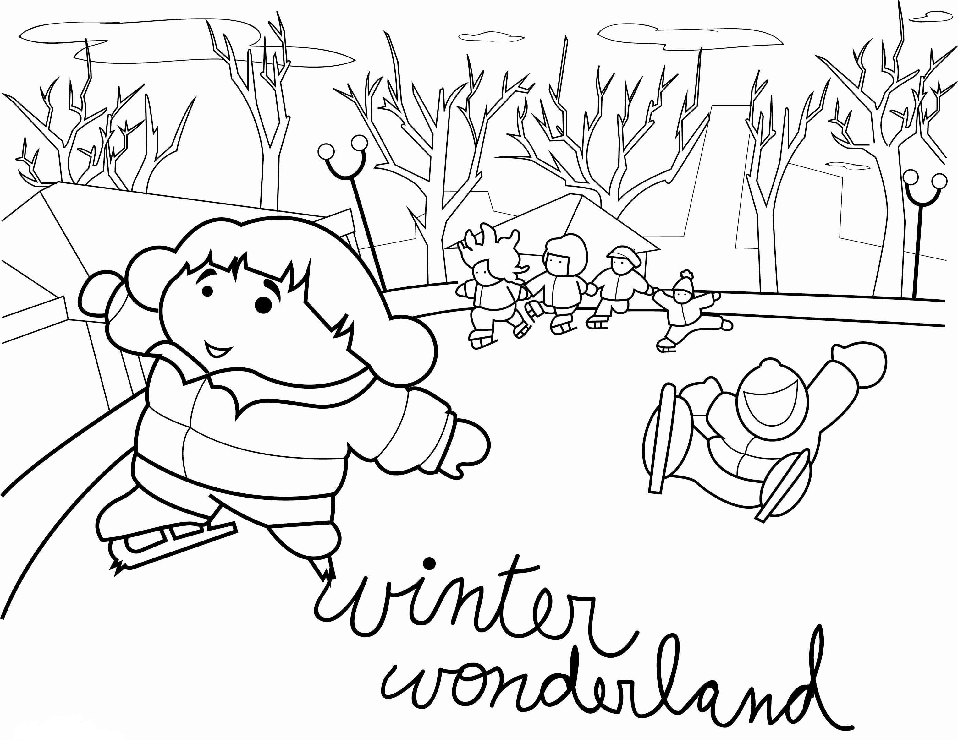 Winter Scenes Coloring Pages Printable Sketch Coloring Page