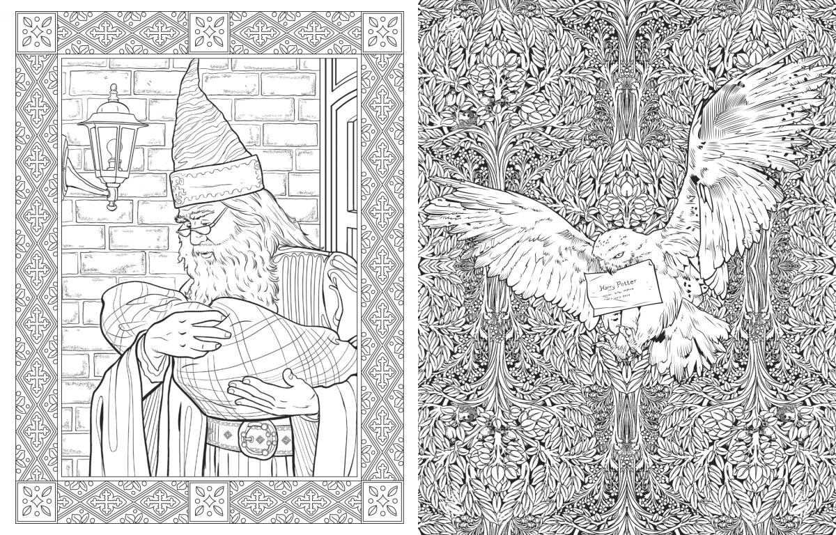 Harry Potter Adult Coloring Pages Coloring Home