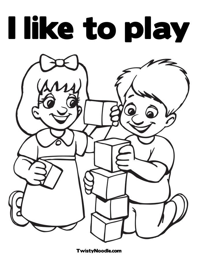 coloring pages of kids playing az coloring pages