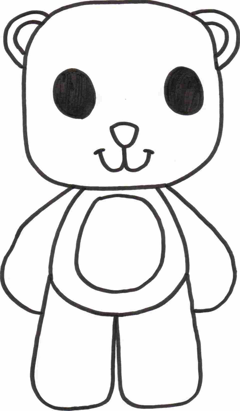 teddy bear coloring pages templates az coloring pages