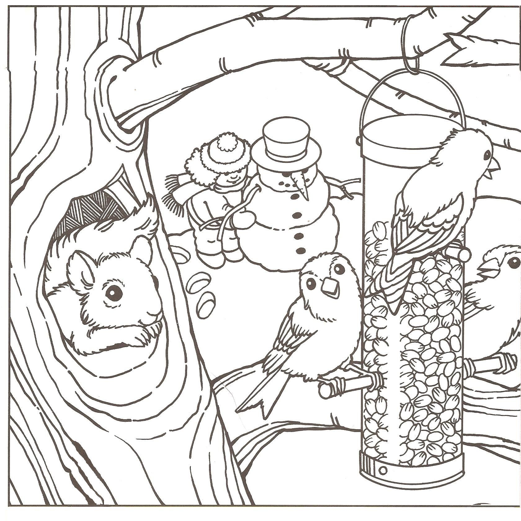 winter scene coloring pages aaldtk