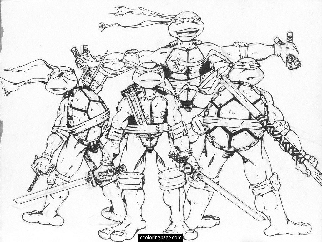 Teenage Mutant Ninja Turtles Free Coloring Page Printable