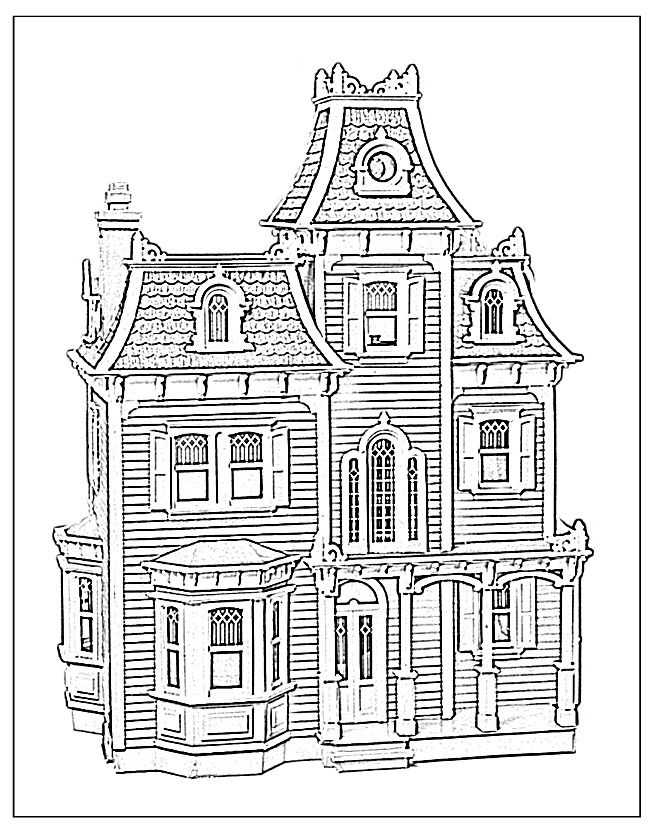 victorian house coloring pages az coloring pages