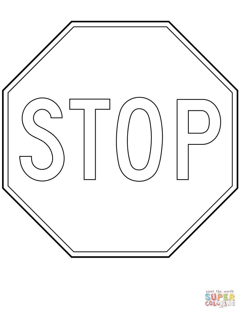 printable stop sign coloring page az coloring pages