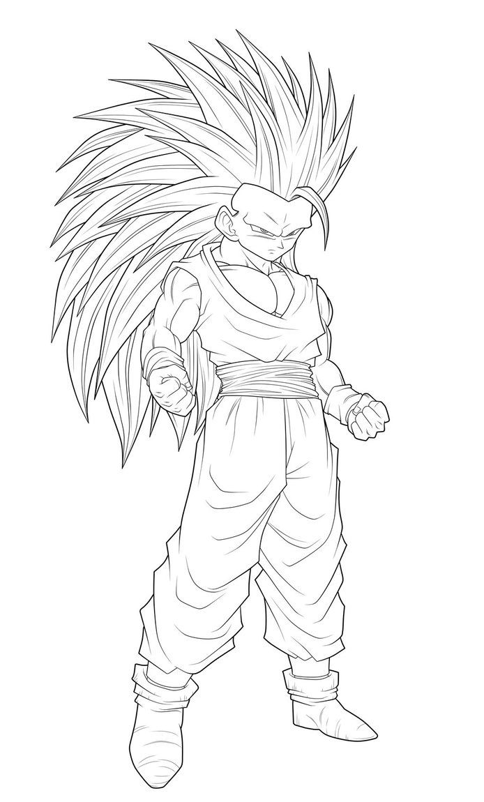 11 pics of goku ssj3 coloring pages goku super saiyan 3 coloring