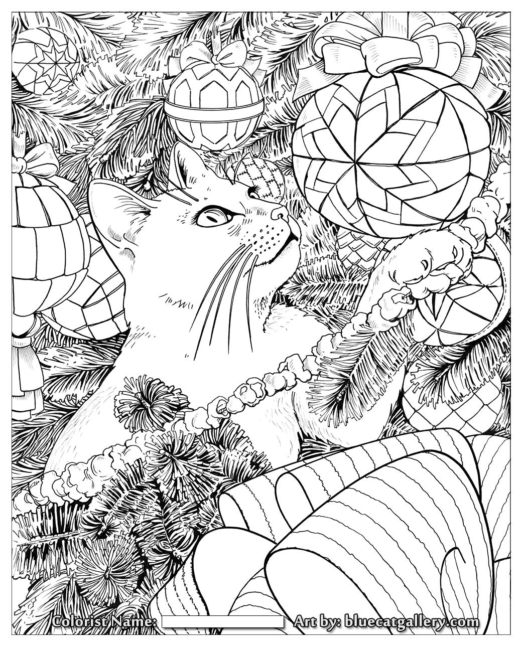 Adult Christmas Coloring Page