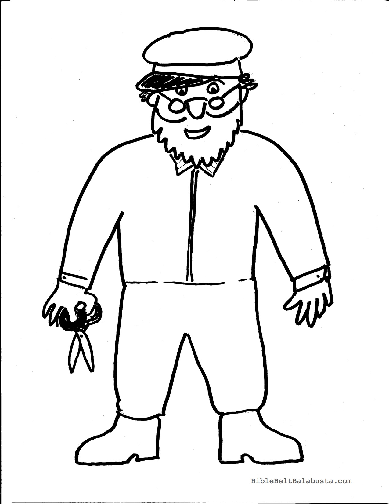Joseph Had A Little Overcoat Coloring Page