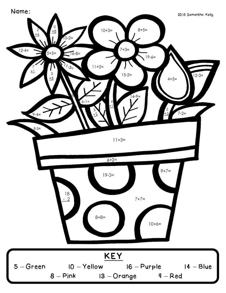 addition color by number pages az coloring pages