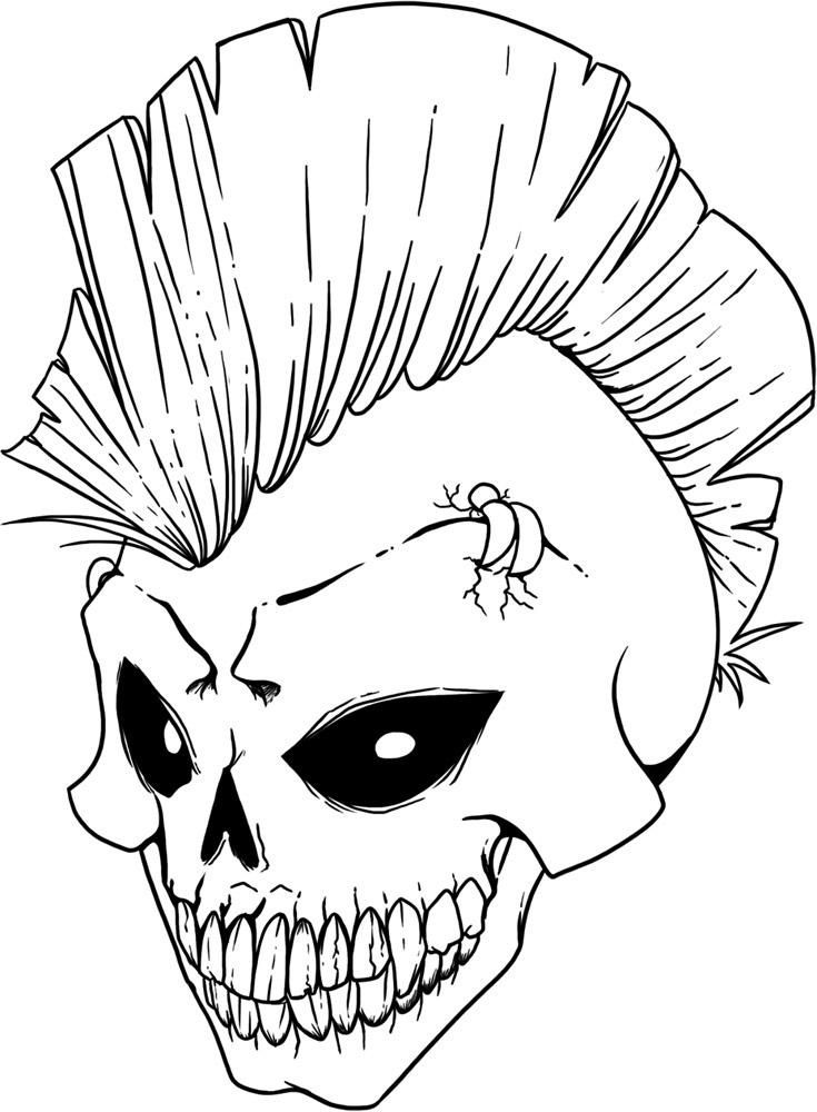 printable coloring pages of skulls az coloring pages