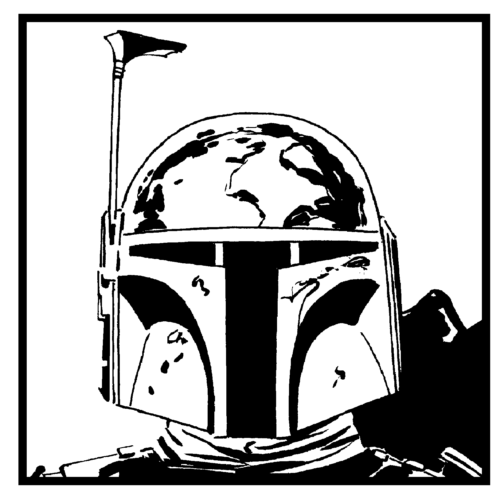 star wars boba fett coloring pages sketch template